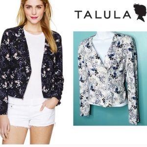 Talula Floral Moto Jacket